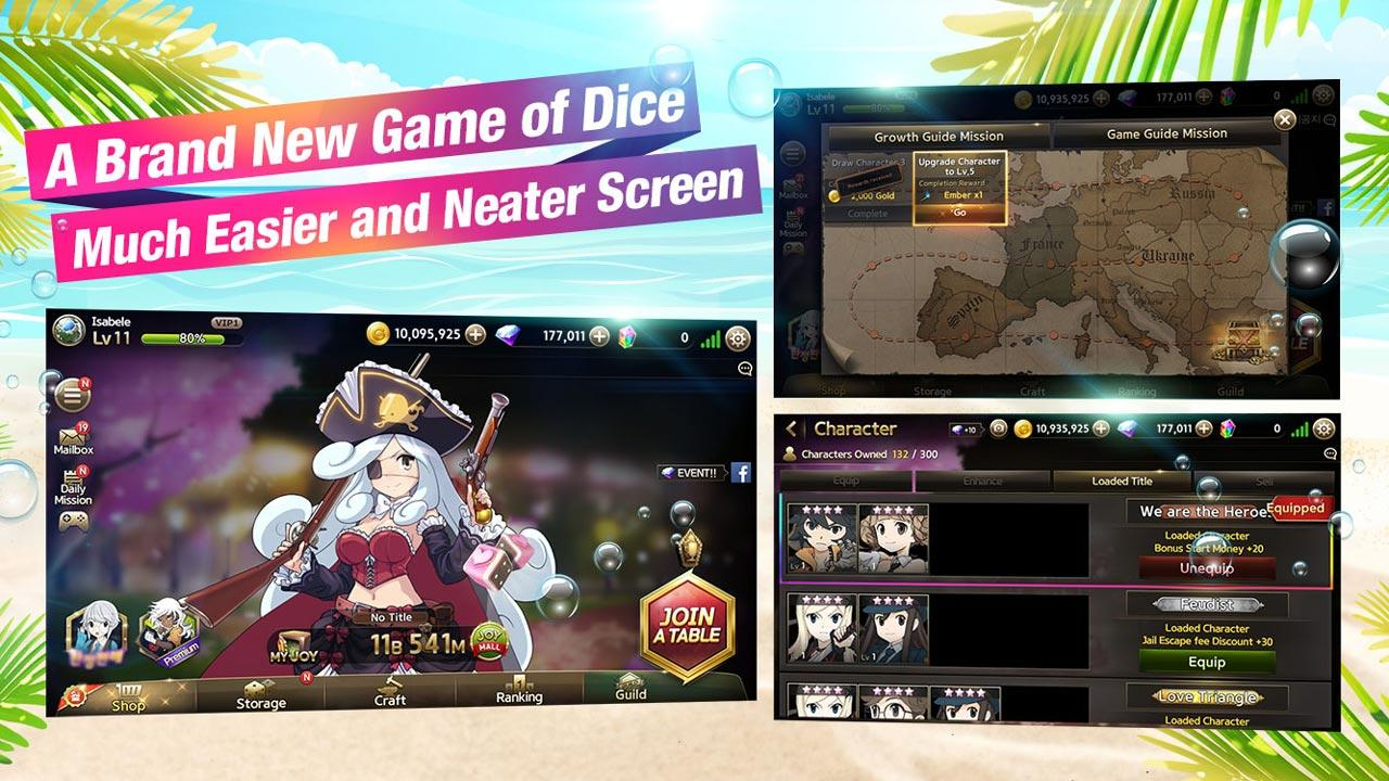 Screenshots of Game of Dice for iPhone