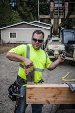 Photo: Texting no one and sawing by hand, what a multi-tasker!!