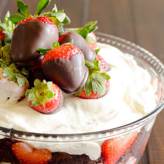 Chocolate Covered Strawberry Trifle.