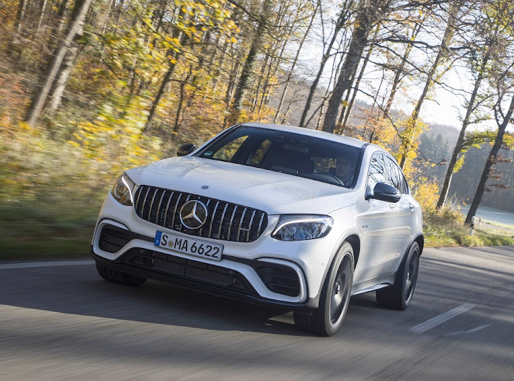 Mercedes will launch the new GLC63 AMG models in SA this month but the next generation is already due in 2019. Picture: DAIMLER
