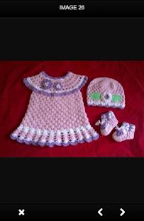 Šaty dětské háčkování - náhled