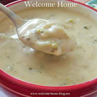 White Cheddar Cream of Broccoli Soup