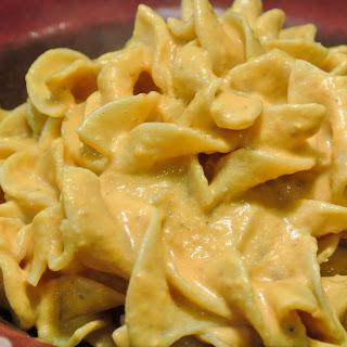 Pumpkin Alfredo with Egg Noodles.