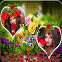 Rose Dual Photo Frame icon
