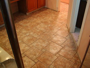 Photo: custom patterned tile installation