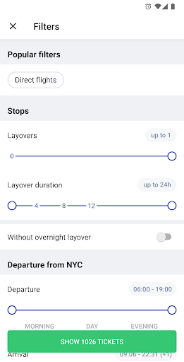 Capturas de pantalla de hoteles y vuelos 7