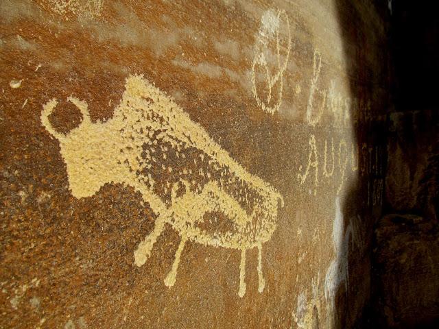 Pregnant Buffalo petroglyph