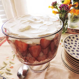 Strawberry Rhubarb Trifle.