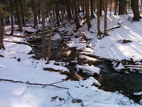 Photo: creek crossing in winter