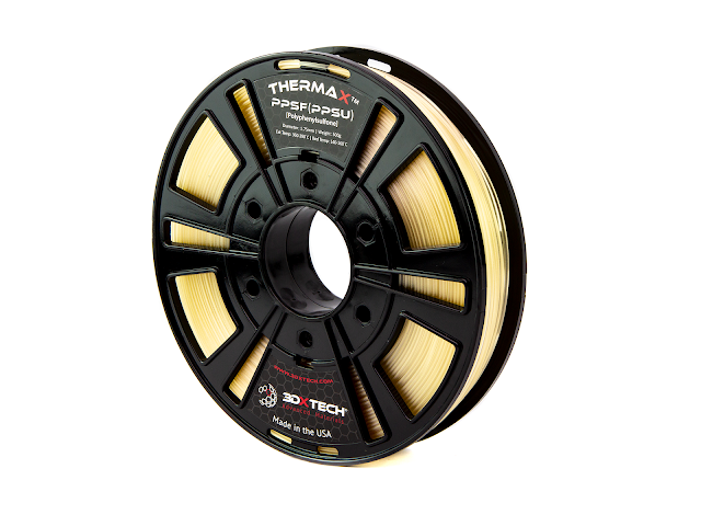 3DXTECH Thermax Natural PPSU Filament - (1kg) 1.75mm