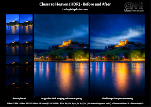 Photo: HDR Before and After: Closer to Heaven [ bit.ly/bna-closer ]  Here is the Before-and-After comparison of my latest HDR image (Closer to Heaven). This image was created from 8 manual exposures using Photomatix and Photoshop CS5.  If you go the photo page at [ bit.ly/fp-closer ] you will get much more information on the post-processing, including a few tips on blue-hour-HDR.  Enjoy!  #hdr #photography #tips #beforeandafter