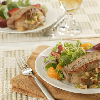 Almond-Stuffed Pork Chops.