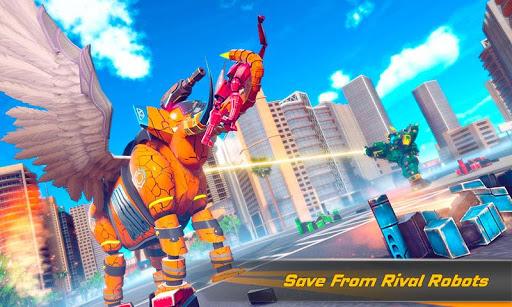 Flying Elephant Robot Transform: Flying Robot War 1.1.1 Screenshots 2