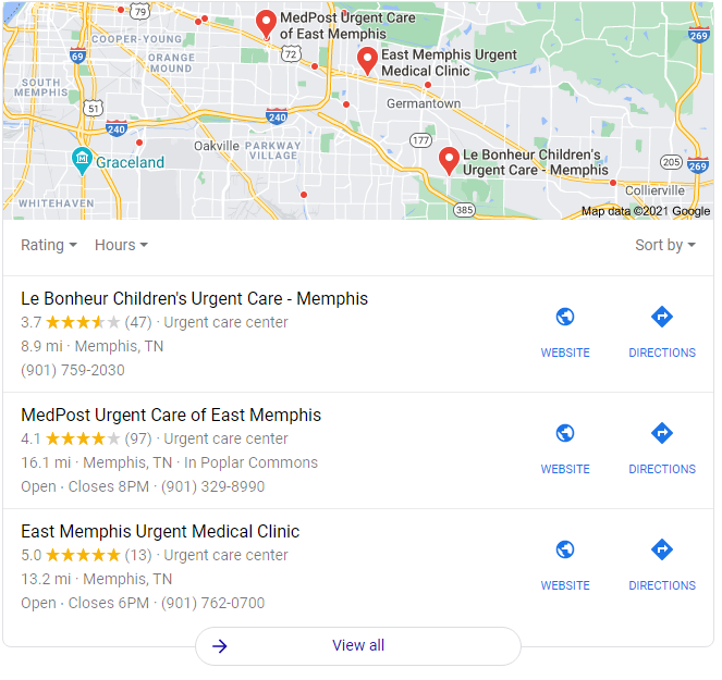 Local Pack SEO Example