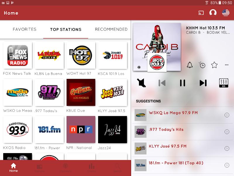 myTuner Radio App: FM Radio + Internet Radio Tuner Screenshot 8
