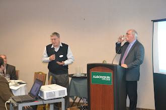 Photo: Robin Craig (NRC) answering a question from presentation