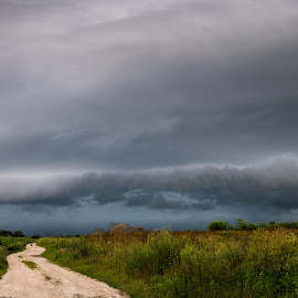 Shelf Cloud by Nenad Milic - Landscapes Cloud Formations ( storm, nature, weather, clouds, landscape )