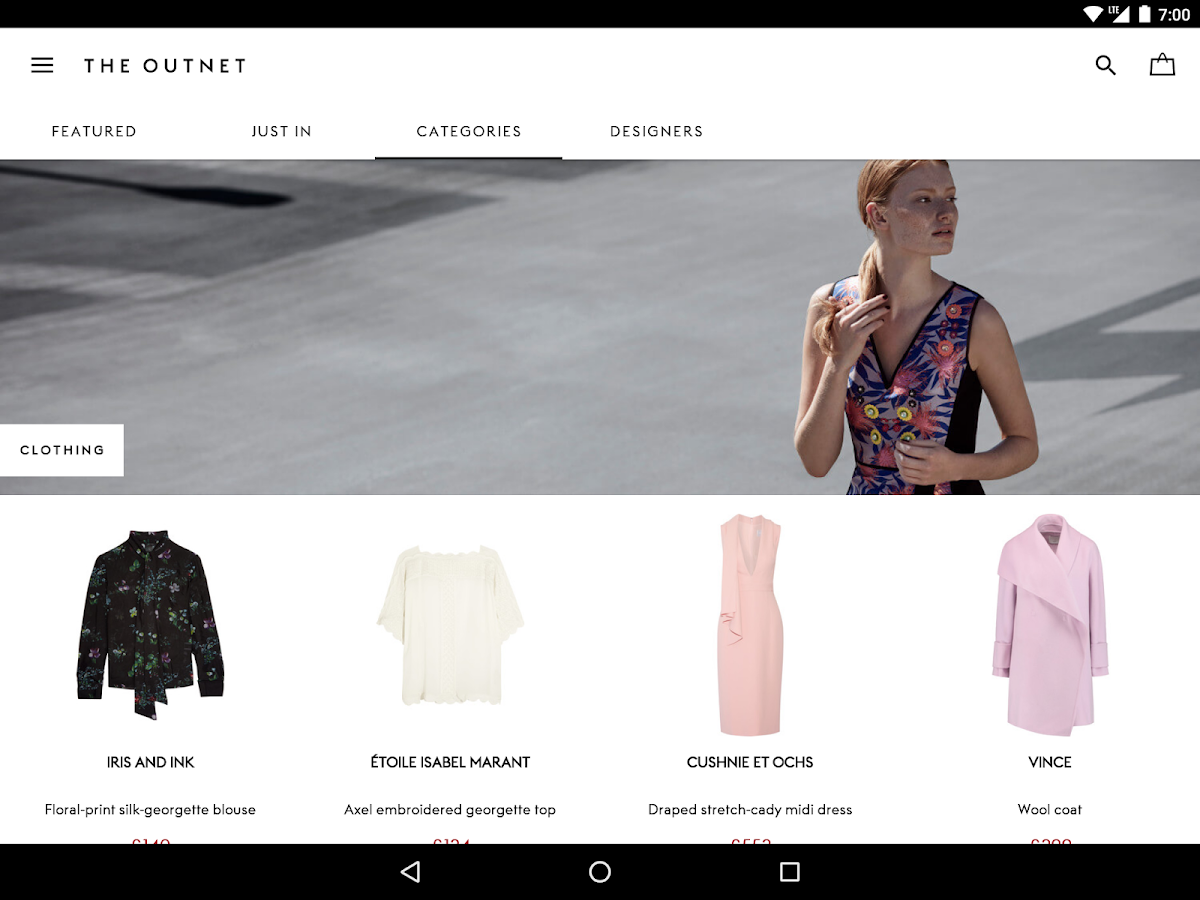 THE OUTNET- screenshot