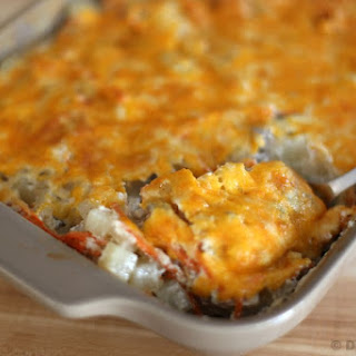 Easy Ground Beef Casserole with Potatoes.
