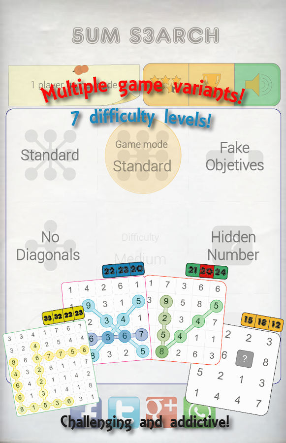 Sum Search= Sudoku + Word Search- screenshot