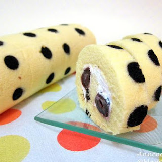 Cherry Polka Dots Swiss Roll