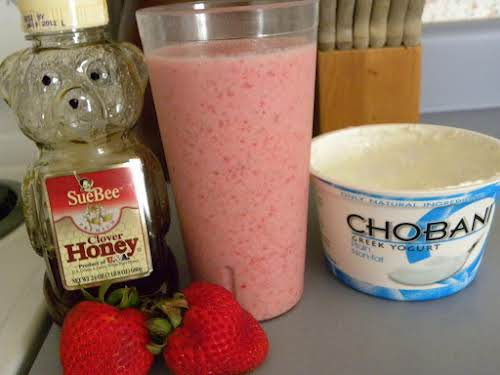 """Strawberry Banana Smoothie """"I tried this recipe and say it's family tested..."""