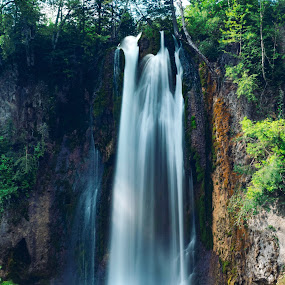 Spearfish  by Angelica Less - Landscapes Waterscapes ( waterscape, waterfall, long exposure, water, landscape,  )