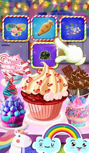Unicorn Rainbow Cup Cake - Kids Cooking Game image | 11