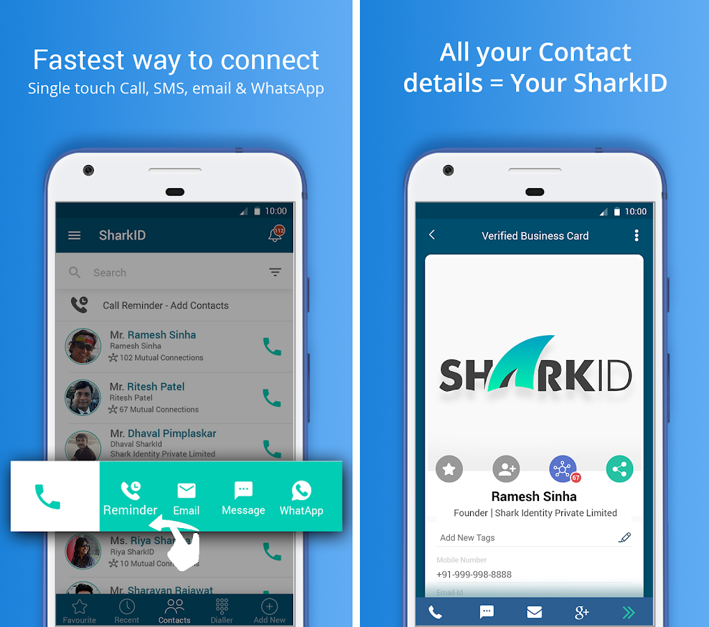 SharkID - Auto Updating Smart Phonebook & Dialer- screenshot