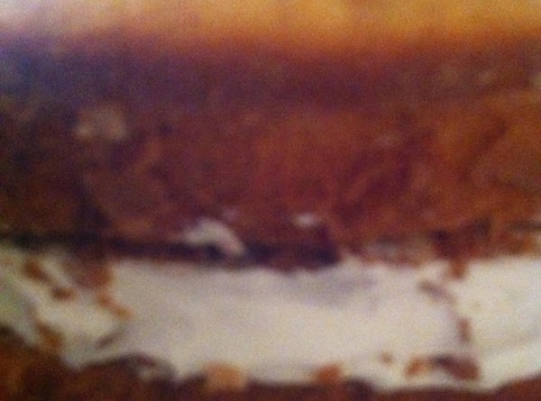 Invert second cake onto first one (second cake should be flat side down) gently...