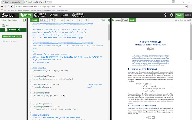 Open with Overleaf