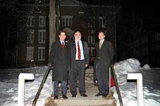Photo: Governor Scott Walker, President J. David Arnold and Reagan Society director John Morris