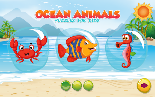 Puzzles for kids Ocean Animals  screenshots 4