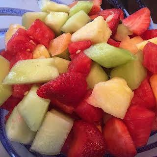 Fresh Melon Fruit Salad.