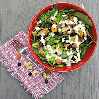 Roast Vegetable Salad with Creamy Dressing.