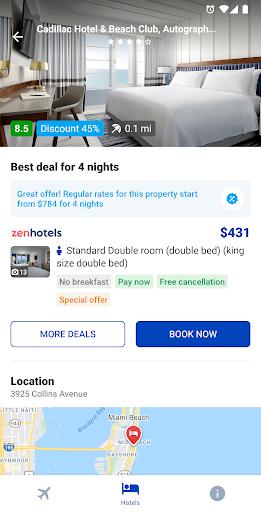 Capturas de pantalla de hoteles y vuelos 4