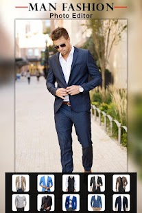 Men Casual Suit Photo Montage - náhled