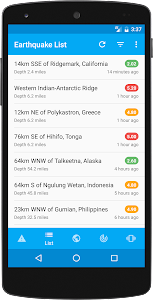 eQuake - Earthquake Alerts screenshot 3
