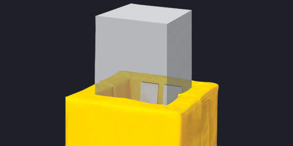 Removable 4 Sided Square Post Pads