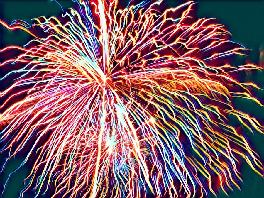 Boom  by Ann Goldman - Abstract Fire & Fireworks ( color, fireworks,  )