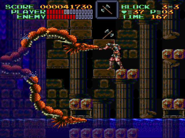 A scene from 'Super Castlevania IV'.