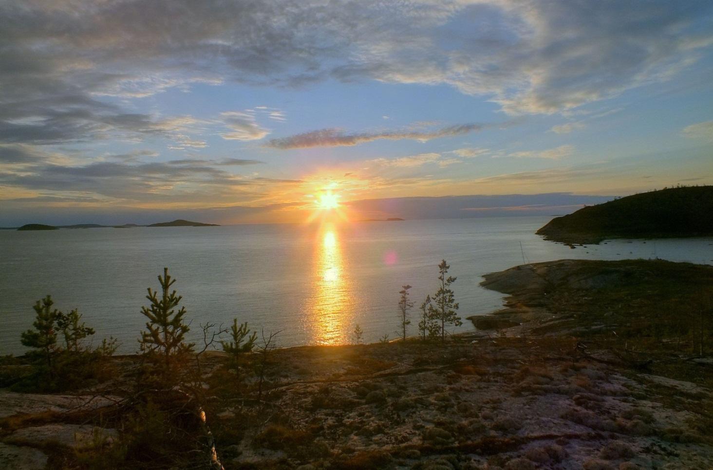 Парусный поход по онежскому заливу белого моря