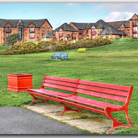 Largs Bench by Dalibor Bakac - City,  Street & Park  Neighborhoods ( scottland, largs,  )