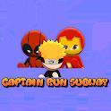 Subway Runner Super Hero - Captain Defense icon