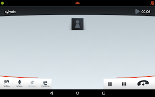 Screenshot of Linphone Video