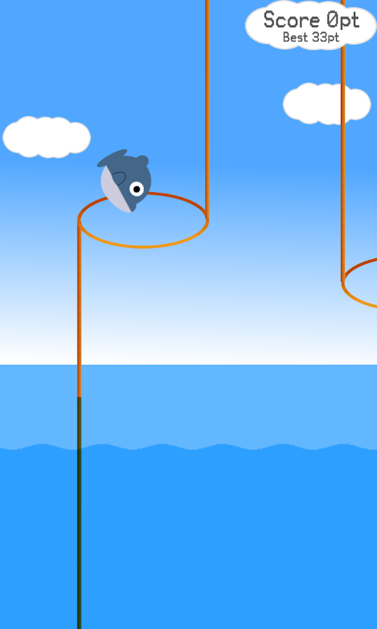 Flying Dolphin Through Hoops- screenshot