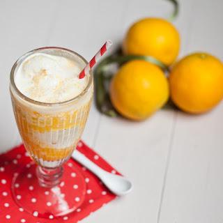 Orange Juice And Ice Cream Float