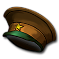 一星バッジの帽子