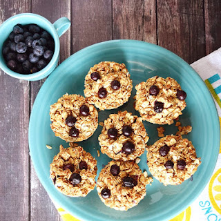 Vegan Blueberry Crumb Muffins.