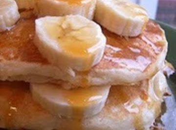 Banana  Buttermilk Pancakes Recipe